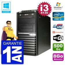 PC Acer Veriton M4630G MT i3-4130 RAM 8Go Disque 500Go Graveur DVD Wifi W7