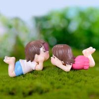 Resin Miniature Craft Couple Fairy Garden Supplies Micro Landscape DIY Decor