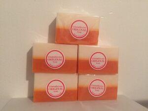 5 x Original Glutathione + Kojic Acid 2in1 Soap Bars Skin Whitening Gluta Papaya