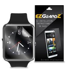 2X EZguardz LCD Screen Protector Cover HD 2X For iRulu GW08 Bluetooth Smartwatch