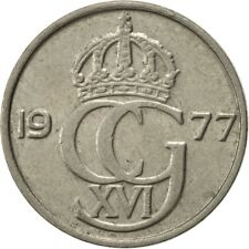 [#417960] Sweden, Carl XVI Gustaf, 50 Öre, 1977, AU(50-53), Copper-nickel