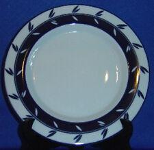 Dansk Allegro Blue Accent Salad Plate 2-Part Leaves On Ring Sri Lanka