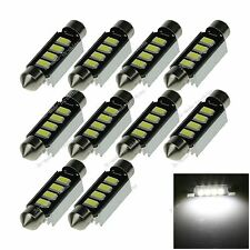 10X White 41MM 4 5730  Canbus Error Free Festoon Dome LED Light Roof Bulb I315