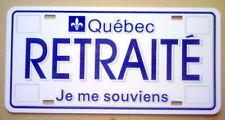 """PLAQUE D'AUTO NEUVE, """"RETRAITÉ""""."""