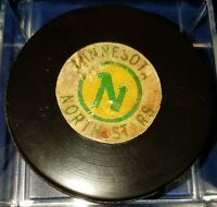 VINTAGE NHL MINNESOTA NORTH STARS ART ROSS CONVERSE GAME HOCKEY PUCK