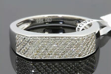 .28 CARAT GENUINE DIAMONDS MENS WHITE GOLD FINISH ENGAGEMENT PINKY RING BAND