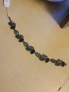 Liz Claiborne Villager Green RhineStone Bracelet