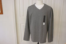 George Heavy  V Neck Sweater Gray Long Sleeve  Size XL
