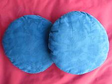 2 schöne blaue Kissen Rundkissen runde Kissen