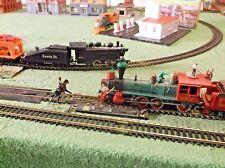 NMIB Lighted Tyco Steam Passenger & Freight Atlas Code 100 Railroad Train Track