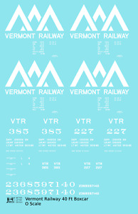 K4 O Decals Vermont Railway 40 Ft Boxcar White