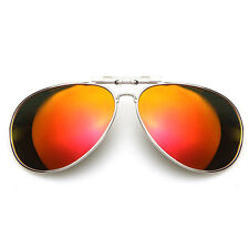 Hot New Men/Women Polarized UV400 Lens Clip-on Flip-up Myopia SunGlasses 86HX3Q