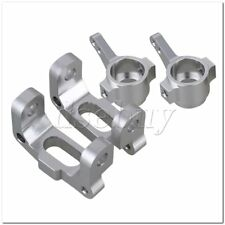 2Sets Silver Alloy CC01-001 CC01-002 Front Knuckle Arm & C-Hub For RC1:10 TAMIYA