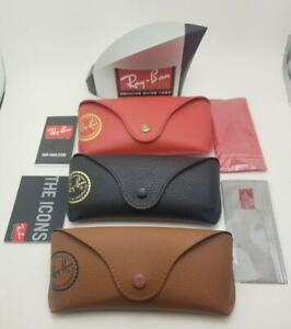 Ray Ban Leather Style Sunglasses Case with Booklet Medium