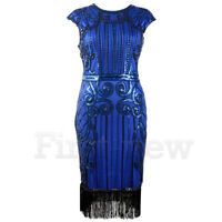 1920's Flapper Dress Great Gatsby Sequin Beads Fringe Art Deco Dresses Plus Size