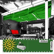 Sonnensegel apfelgrün ca 270x140 cm 20 Laufhaken Seilspannmarkise Wintergarten