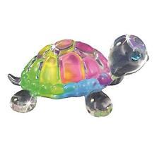 Glass Baron Rainbow Snow Cone Small Turtle Figurine with Swarovski Crystal