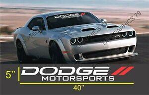Dodge motorsports Challenger charger  Windshield Decal Sticker  vinyl
