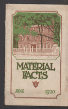 Material Facts June 1920 Cleveland Builders Supply & Brick Co