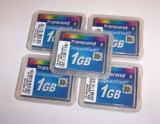 5 Transcend 1GB Compact Flash Memory Cards Lot of 1 GB CompactFlash