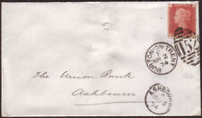 1874 SG43 1d ROSE RED PLATE 120 (SI) BURTON-ON-TRENT '152' DUPLEX ON COVER