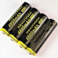 4-healthsea 4800 mAh Batteria agli ioni di litio 3,7 V 8,5 WH/18650 Li-ion 65 x 18 mm