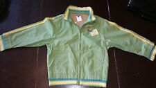 BOYS IKKS $139 FRANCE GREEN LIGHTWEIGHT Hidden Hood JACKET 100% COTTON SIZE 6