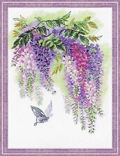 Counted Cross Stitch Kit RIOLIS - Wisteria