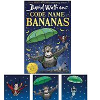 Code Name Bananas by David Walliams Hardback Children's Book