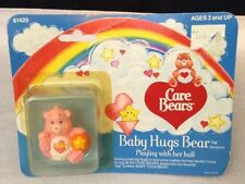 "Vintage 1984 Care Bears Baby Hugs Bear 2"" PVC Miniature Figure Kenner Original"