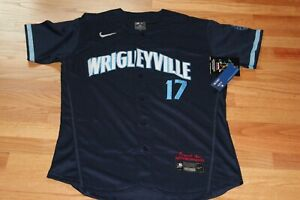 NWT 2021 Chicago Cubs City Connect Wrigleyville Kris Bryant Men's Large Jersey