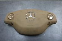 Mercedes AMG Abdeckung Lenkrad W221 Airbag C216 Leder Beige Lenkradschalter