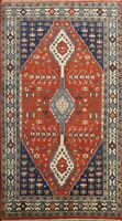 Tribal Geometric Yalameh Oriental Area Rug Hand-made Wool Traditional Carpet 5x8