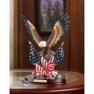 Patriotic America USA Eagle Statue Sculpture