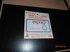 1967 EXPO67 MONTREAL SOUVENIR BICYCLE LICENSE PLATE SEALED UNOPENED MINT