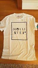 NEU Hollister A&F T-Shirt Herren M S weiß Herrenshirt Jungen 176 170 Stickerei