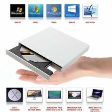 Externes DVD Laufwerk USB 2.0 Brenner Slim CD DVD-RW Brenner für PC Laptop Mac