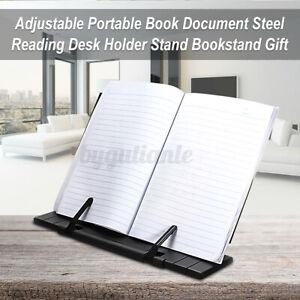 Portable Steel Adjustable tilt Reading Book Stand Holder Fit For Student  U
