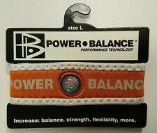 POWER BALANCE ORANGE/WHITE SZ LARGE ELASTIC/STRETCH NEOPRENE WRISTBAND/BRACELET