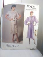 ALBERT NIPON Vogue American Designer Dress Pattern #1692 Size 12 Vintage UNCUT