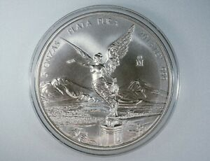 2013 Mexico Libertad 5 oz Silver Coin Gorgeous Brilliant Uncirculated .999 Plata