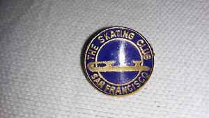 VINTAGE SKATING CLUB of SAN FRANCISCO BLUE + GOLD SMALL PIN