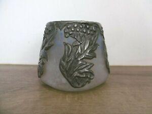 ancien vase en pate de verre art nouveau