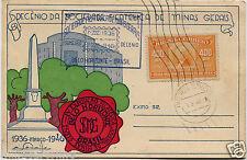 BRAZIL BRASIL, DECENIO DA SOCIEDADE FILATELICA DE MINAS GERAIS, ANNUL, 1946    m