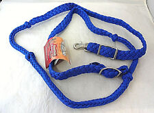 Knotted Cord Nylon Rein Single Barrel Racing Roping Horse Tack Tough 1 Blue Nwt