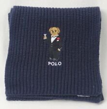 Polo Ralph Lauren Collectable Navy Tuxedo Martini Teddy Bear Scarf NWT