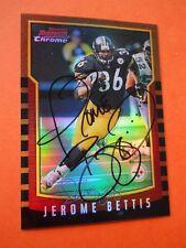 Jerome Bettis, 2000 Bowman Chrome Autographed Football card # 111, Steelers, RB