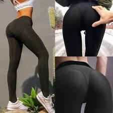 Damen Leggings Sexy Butt Lift Push Up Skinny Yoga Hosen Hose Fitness Leggins