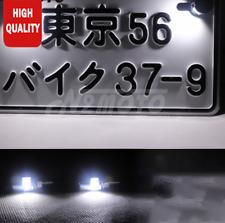 2x White SMD  Bolt-On LED License Plate Light For Car  Motorcycle ATV Bike