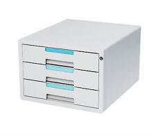 Flat File Cabinet 3 Drawers Index Key Lock Office Home Sytem 1123K